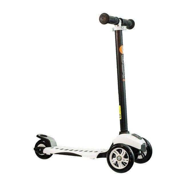 GLX Pro 3-Wheel Kick Scooter, Black/White