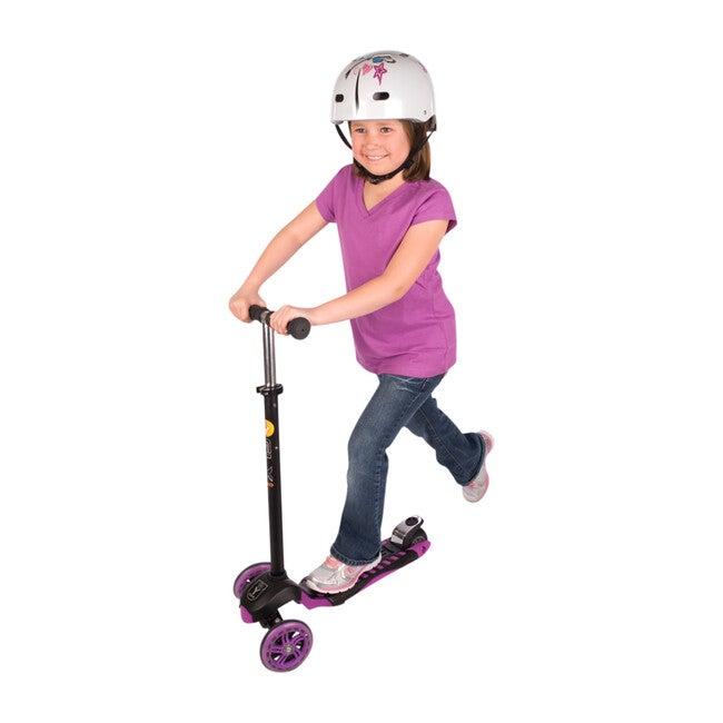 GLX Pro 3-Wheel Kick Scooter, Black/Purple
