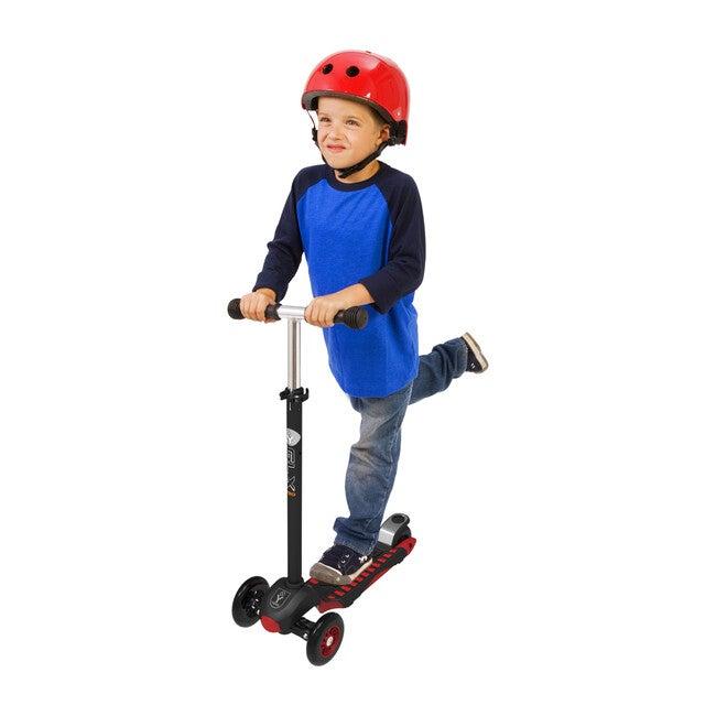 GLX Pro 3-Wheel Kick Scooter, Black/Red