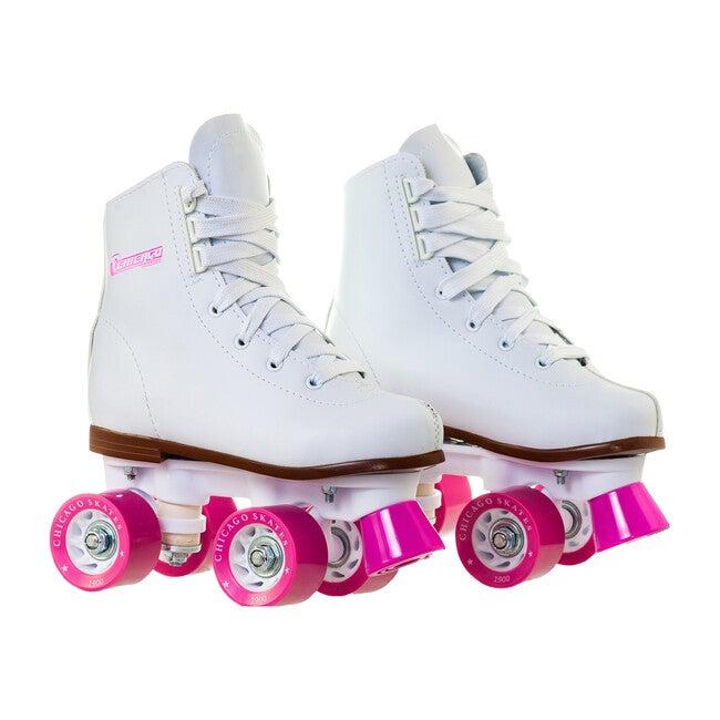 Rink Skates, White/Pink - Sports Gear - 1