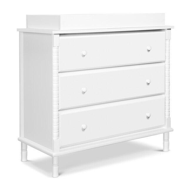 Jenny Lind Spindle 3-Drawer Dresser, White