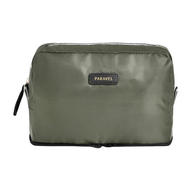Monogrammable Fold-Up Wash Kit, Safari Green