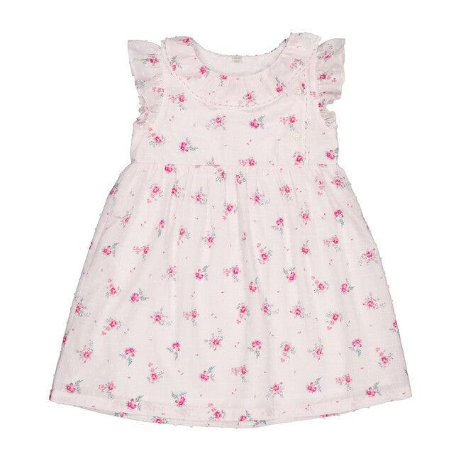 Aubepine Dress, Pink Flowers