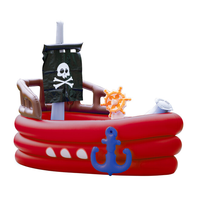 Water Fun Pirate Boat Inflatable Sprinkler Play Center with Pump