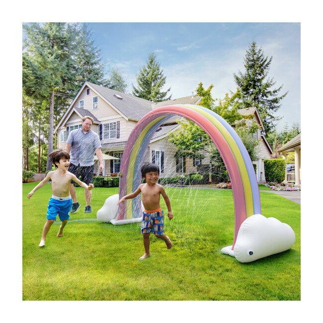 Water Fun Pastel Rainbow Inflatable Sprinkler