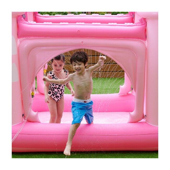 Water Fun Castle Inflatable Kiddie Pool with Pump, Pink