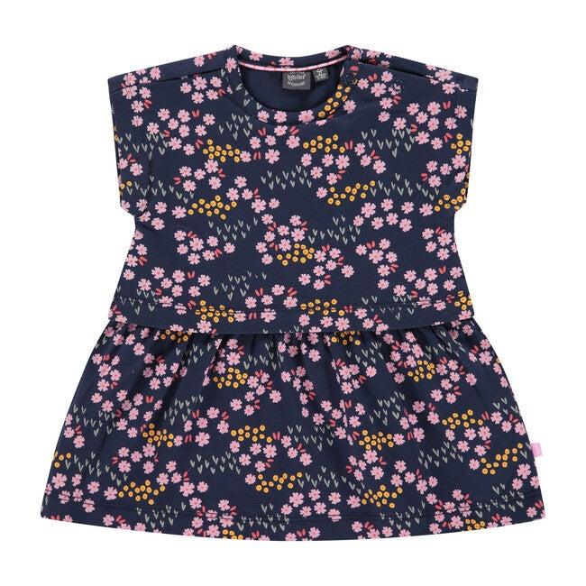 Dress, Blue Flower Print