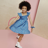 Daria Dress, Blue Flower Pots - Dresses - 4