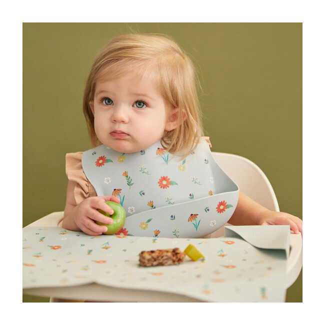 Silicone Mealtime Bundle, Wildflower Chambray Blue