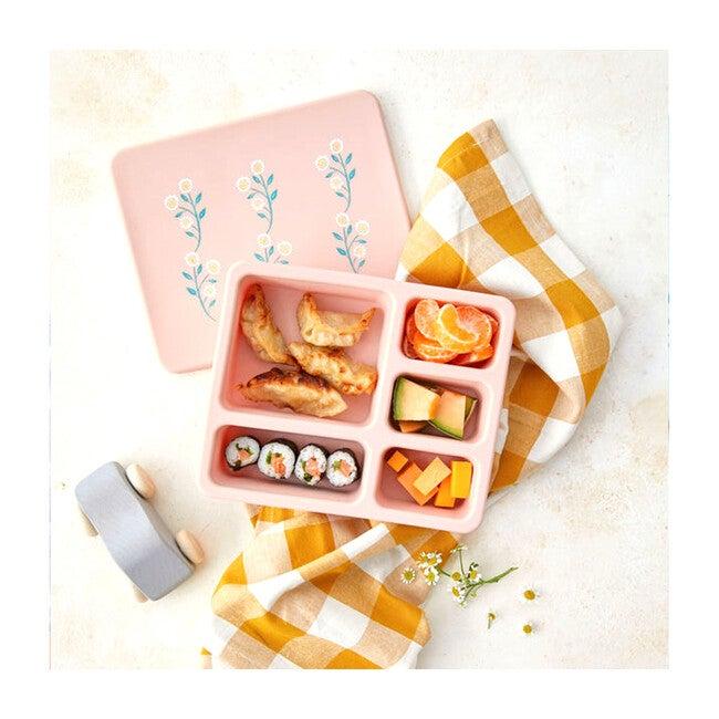 Silicone Bento Box Bundle, Wildfllower Ripe Peach