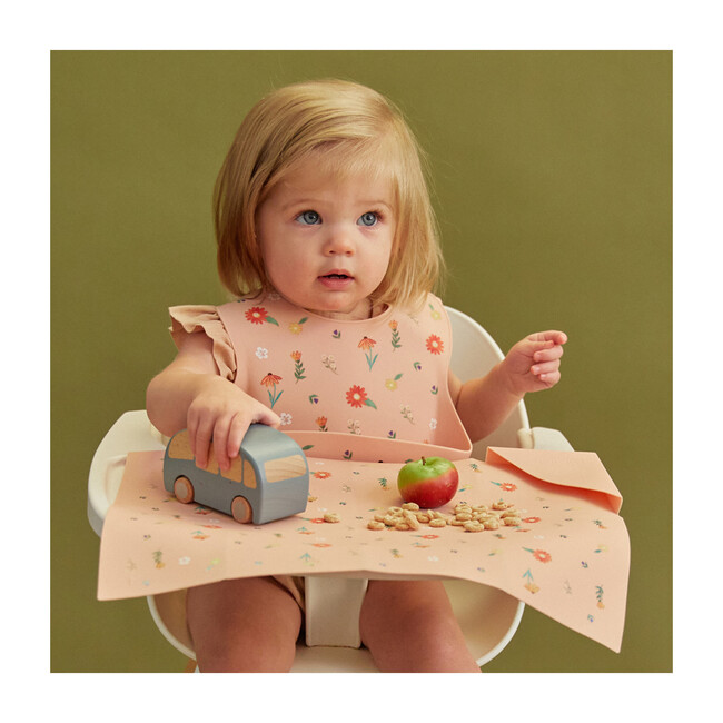 Silicone Mealtime Bundle, Wildflower Ripe Peach