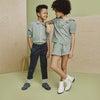 Pia Short, Green Check - Shorts - 2