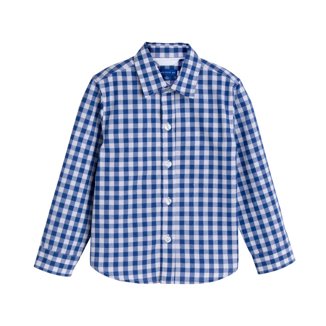 Max Button Down, Royal Blue Gingham