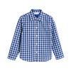 Max Button Down, Royal Blue Gingham - Shirts - 1 - thumbnail