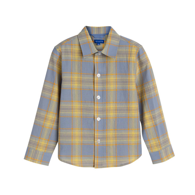 Max Button Down, Blue Yellow Check
