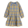 Clementine Tiered Dress, Blue Yellow Check - Dresses - 1 - thumbnail