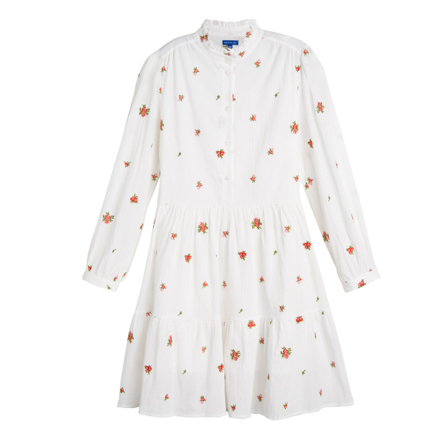 Caroline Women's Dress, Embroidered Flower
