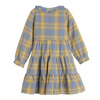 Clementine Tiered Dress, Blue Yellow Check - Dresses - 3