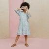 Heidi Tiered Dress, Blue Brushstroke Flowers - Dresses - 2