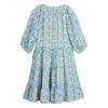 Heidi Tiered Dress, Blue Brushstroke Flowers - Dresses - 3
