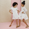 Clementine Tiered Dress, Embroidered Flower - Dresses - 4