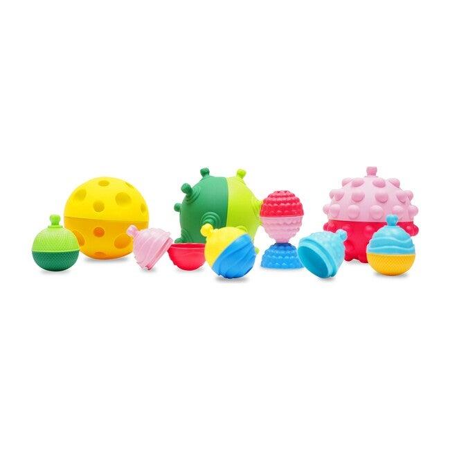 3 Sensory Balls and Beads, 18 Pieces