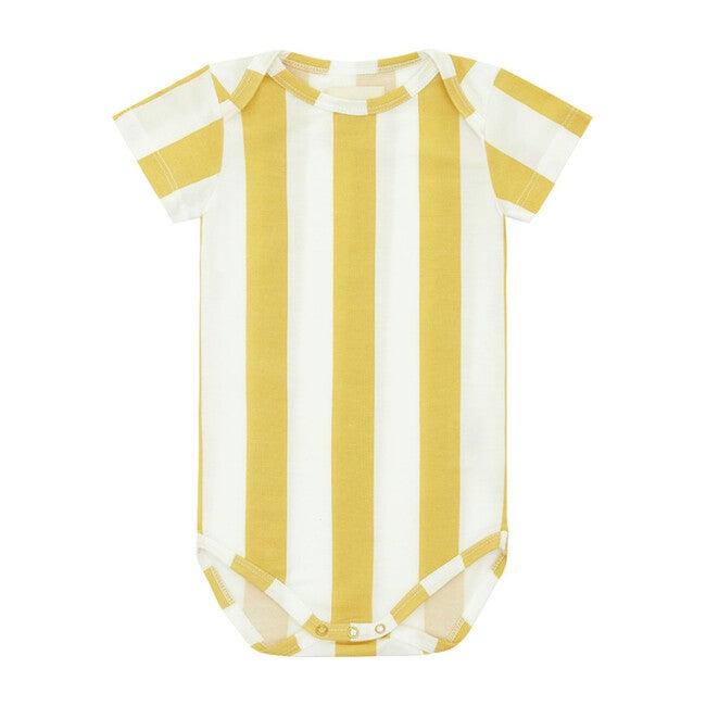 Yellow Striped, Tencel™ Bodysuit
