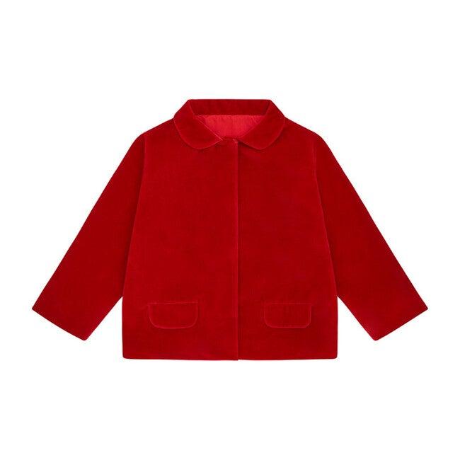 Organic Cotton Velvet Jacket, Red
