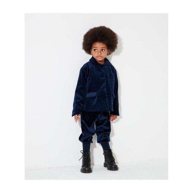 Organic Cotton Velvet Trousers, Navy Blue