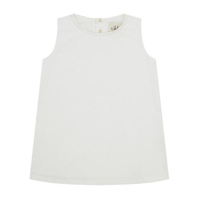 Organic Cotton Corduroy Dress, Ecru