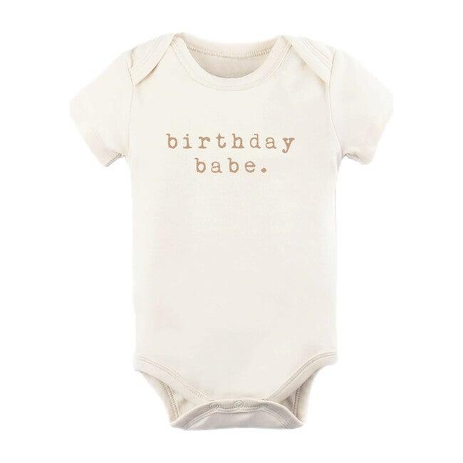 Birthday Babe Short Sleeve Bodysuit, Clay