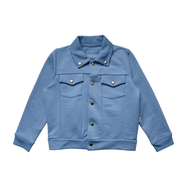 Solid Jersey Jacket, Foggy Blue