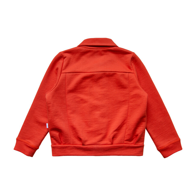 Solid Jersey Jacket, Bright red