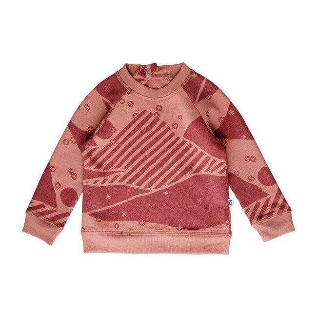 Mountain Sweatshirt, Rose Dawn - Sweaters - 1