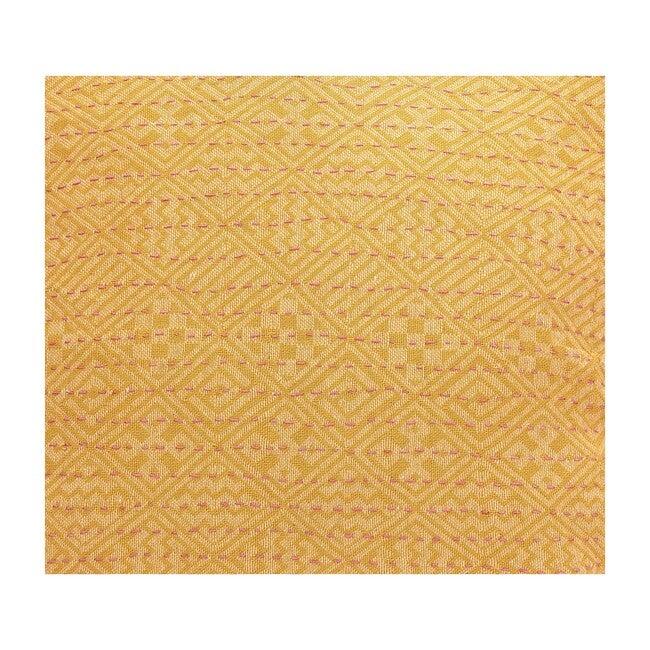 Cotton Square Pillow , Yellow Diamonds