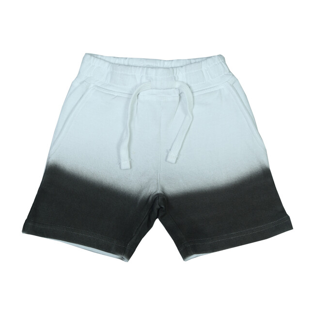 Ombré Shorts, White to Black
