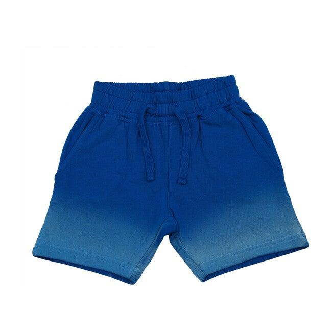 Ombré Shorts, White to Cobalt