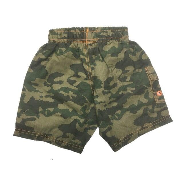Camo Board Shorts, Olive