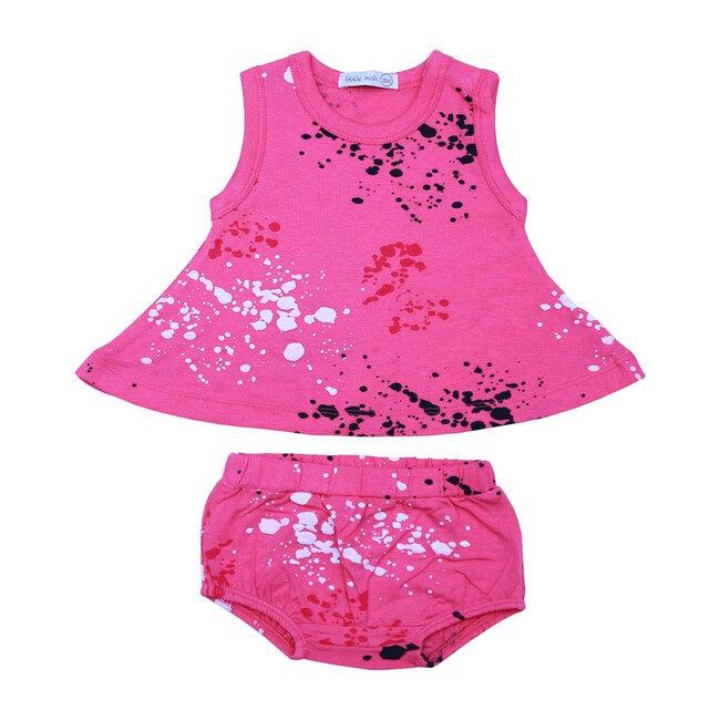 Splatter Swing Diaper Set, Pink