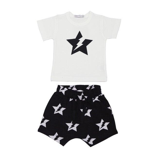 Lightning Star Shorts Set, Black