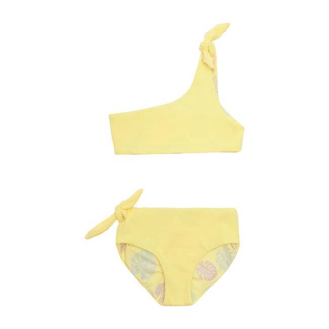 Isla Reversible Two Piece, Lemon Squeeze + Sunny Monstera