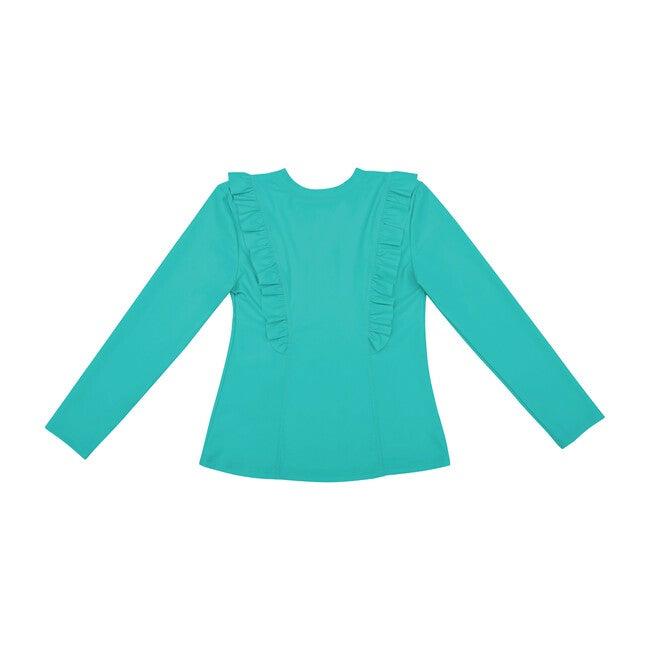 Chloe Long Sleeve Rashguard Top, Turquoise Seas
