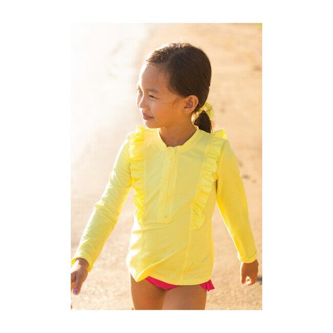 Chloe Long Sleeve Rashguard Top, Lemon Squeeze