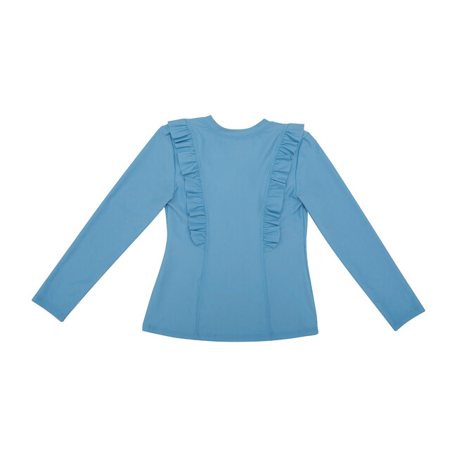 Chloe Long Sleeve Rashguard Top, Blue Sky
