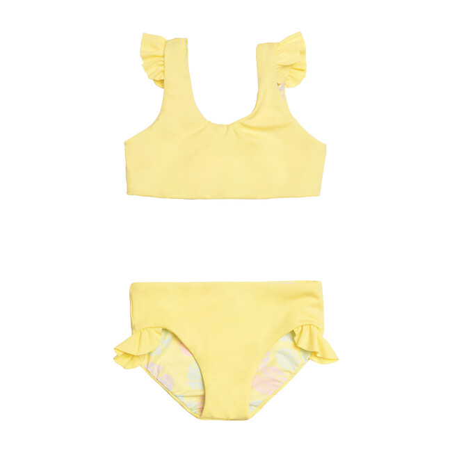 Ava Reversible Two Piece, Lemon Squeeze + Sunny Monstera