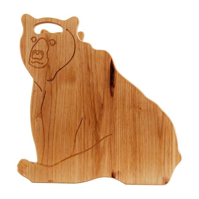 Kids Hickory Stepstool, Bear