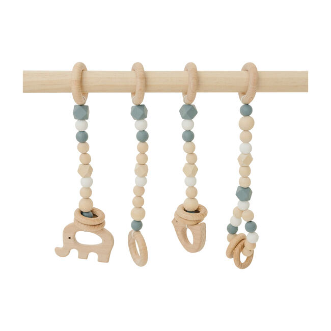 Natural Wood Gym with Gray Toys