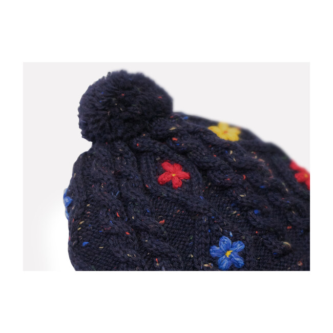 Wild Flower Hat, Navy
