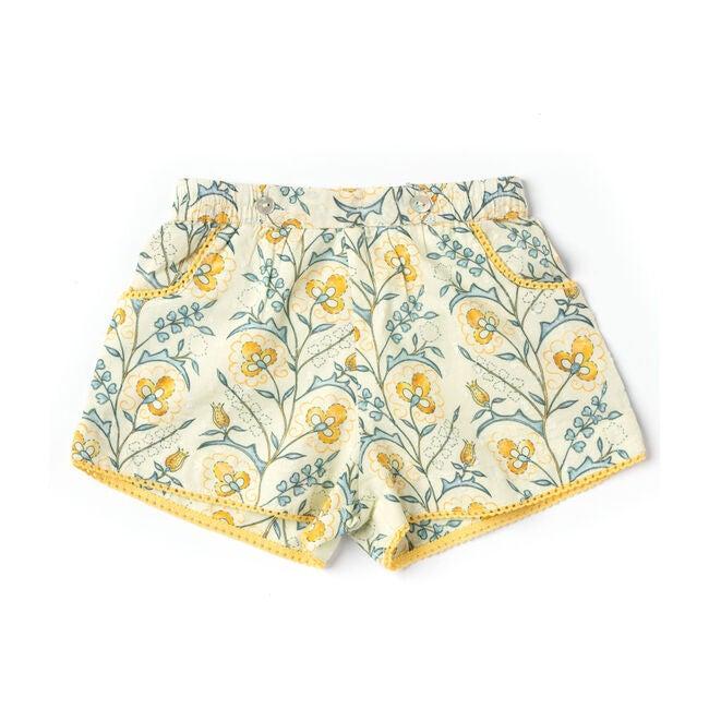 Begonia Shorts, Mustard Wallpaper