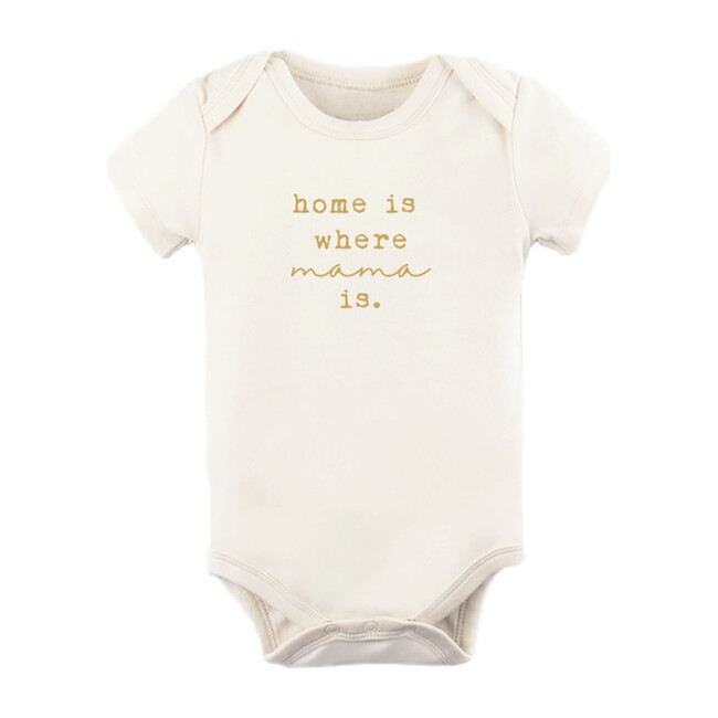 Home Is Where Mama Short Sleeve Onesie, Goldenrod